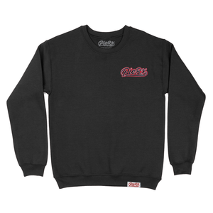 Chenille Whip Game Patch Crewneck - Black