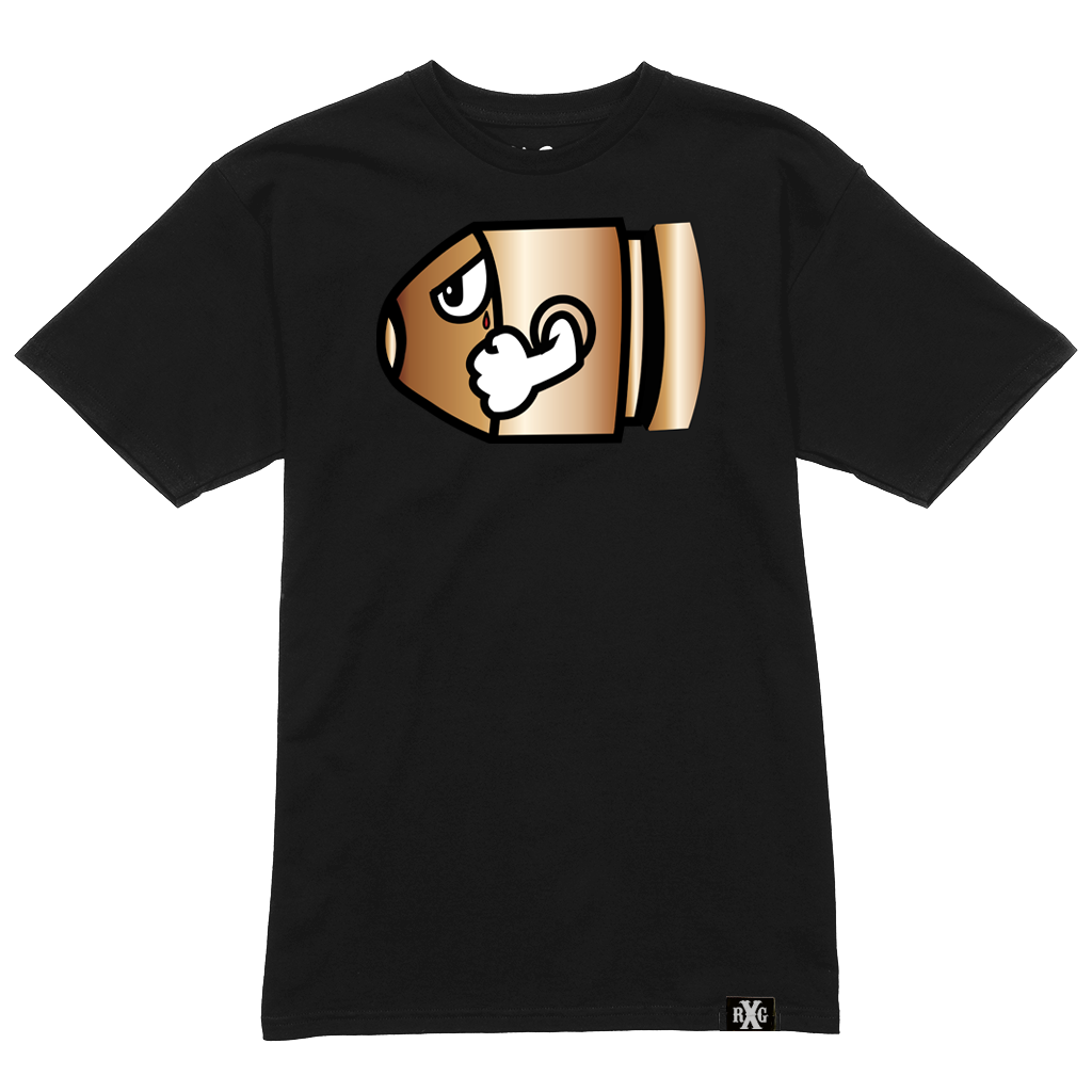 RxG Bullet Tee - Black w Glow In The Dark Eye