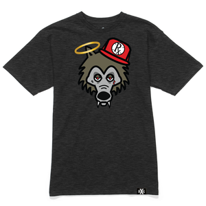 RxG Wolf Tee - Dark Charcoal Gray w Glow Eyes