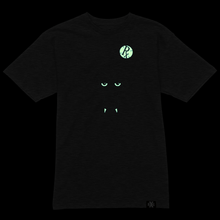Load image into Gallery viewer, RxG Wolf Tee - Dark Charcoal Gray w Glow Eyes