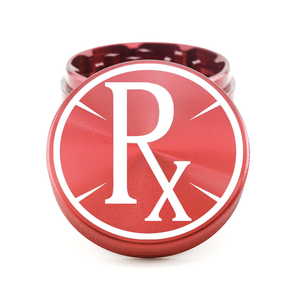 "2.5"" Circle Rx 4-Piece Herb Grinder - Red"