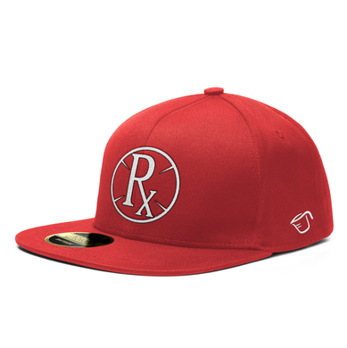 **PRE-ORDER**. Snapback Hat - Circle Rx - Red