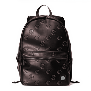 Rx Pattern Leather Backpack - Boffee
