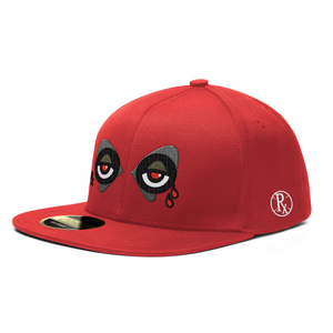 Snapback Hat - Rx Wolf Eyes - Red