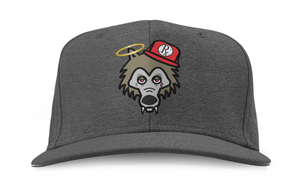 Snapback Hat - RxG Wolf - Charcoal Gray