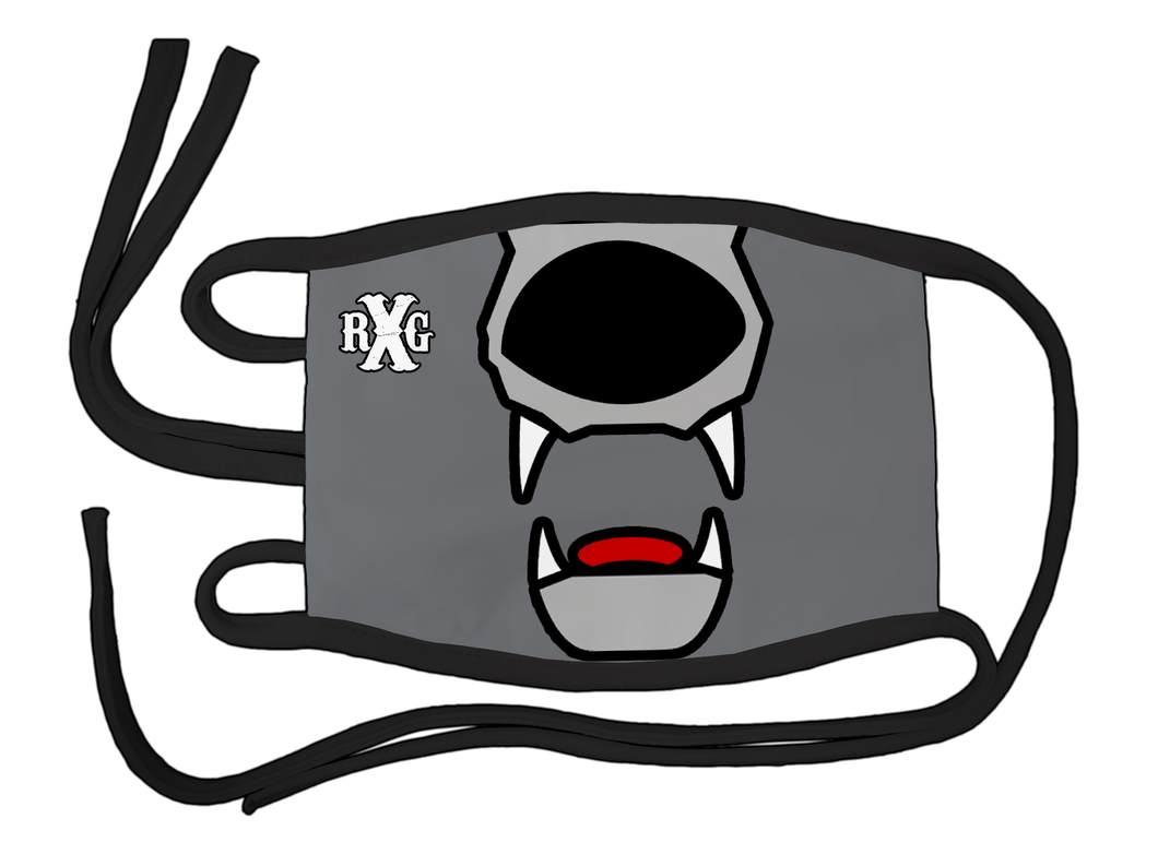 RxG Wolf Mouth Mask - Gray