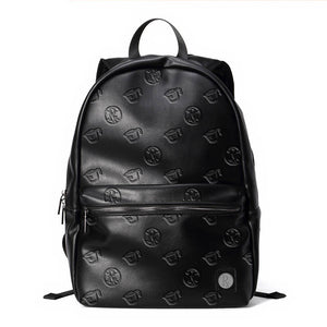 Rx Pattern Leather Backpack