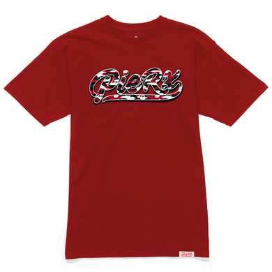 **PRE-ORDER** Whip Game Red Camo Tee - Red