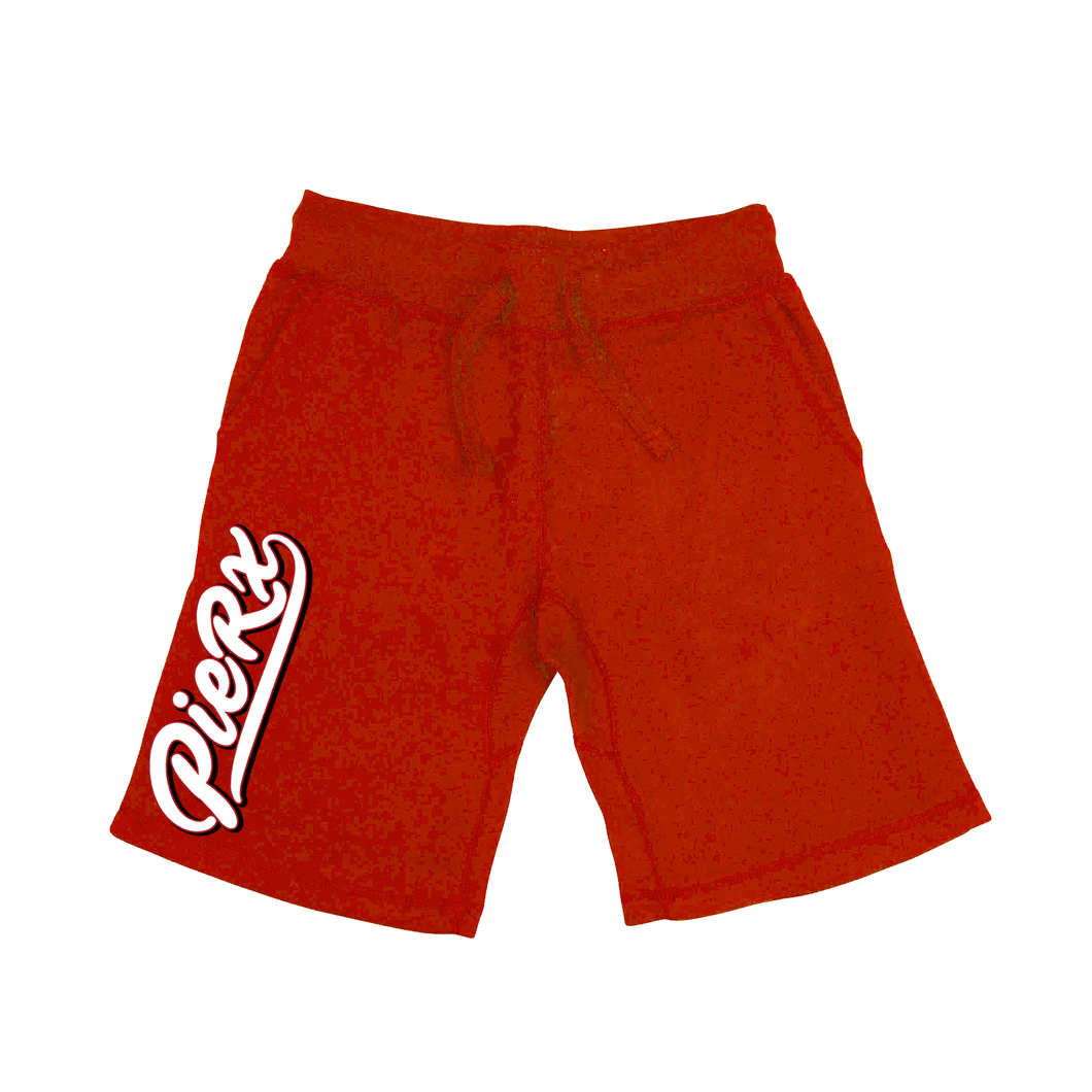 Whip Game Fleece Shorts - Red