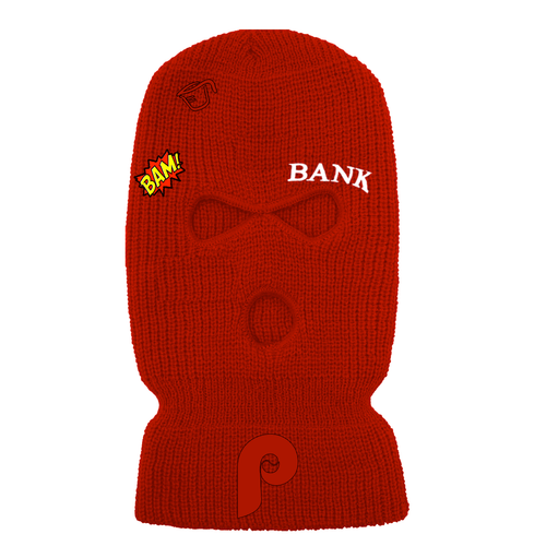Ski Mask - A-Wax Tattoos - Red