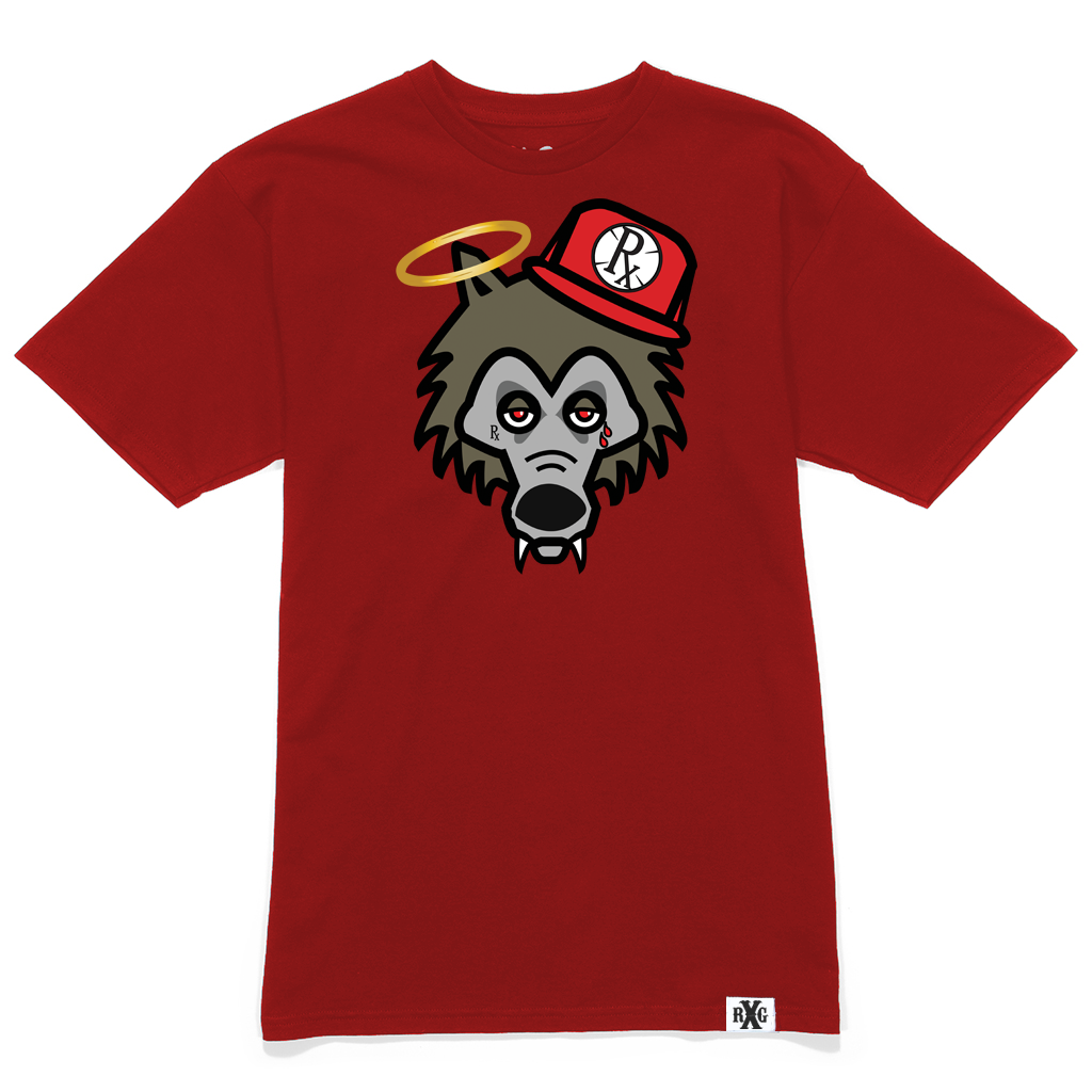 RxG Wolf Tee - Red