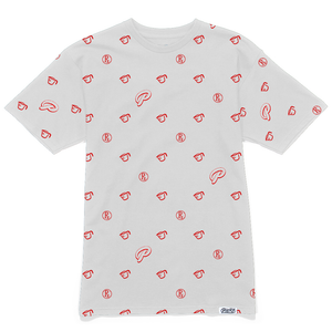 Rx Pattern Tee - White/Red