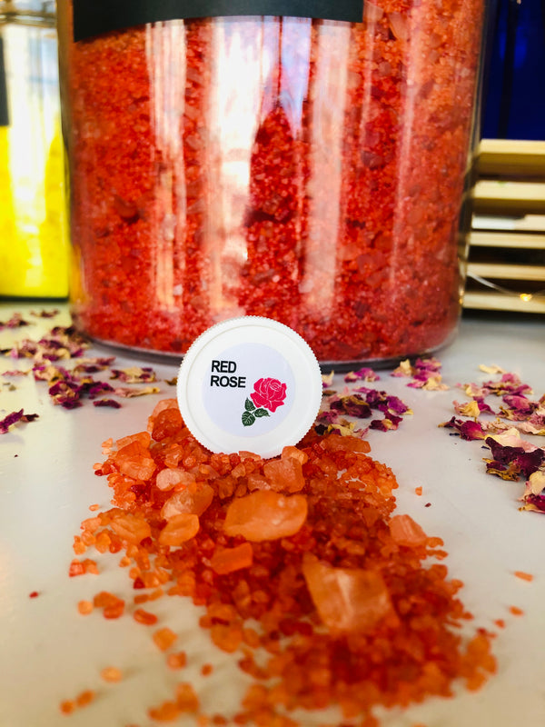 RED ROSE BATH SALTS
