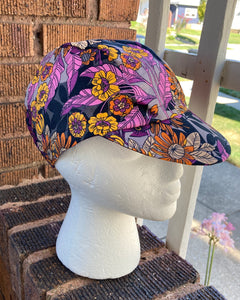 Purple Wildflower Cycling Cap