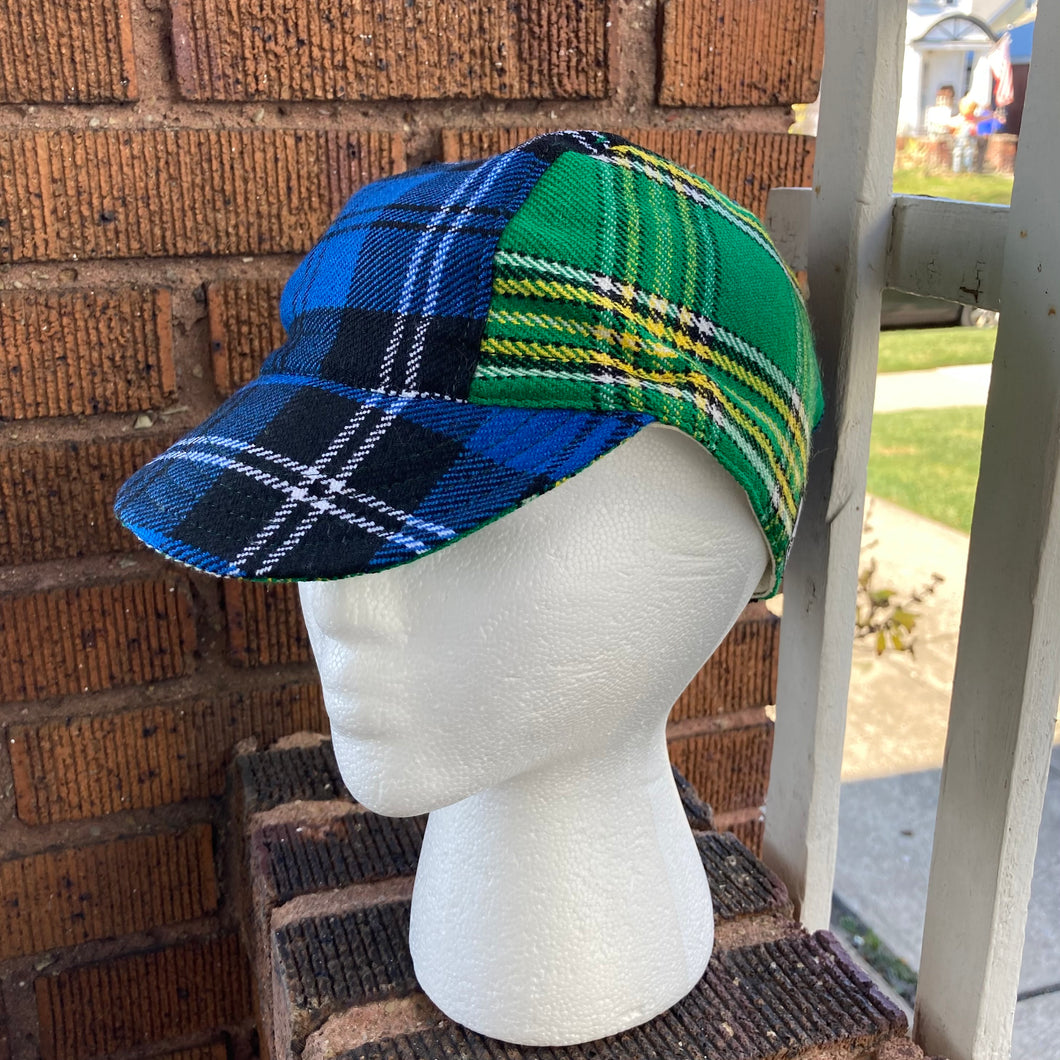 Regis Mixed Tartan Cycling Cap