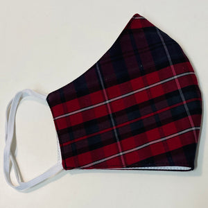 Deep Red Tartan Mask