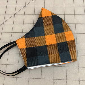 Pumpkin Plaid Mask