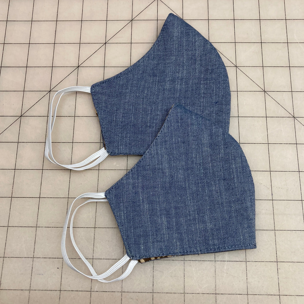 Blue Chambray Mask