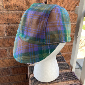 Heathered Moors Tartan Cycling Cap