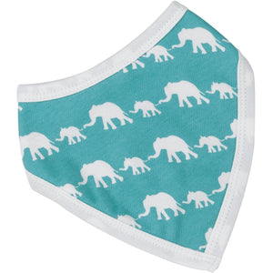 Single-Colour Elephant Bandana Bib