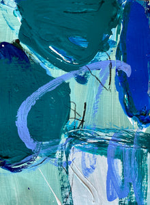 """Turquoise and Blue Study II"""