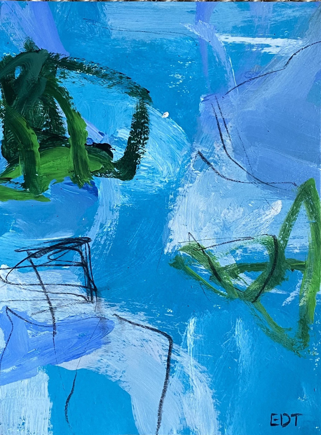 Blue and Green Study I