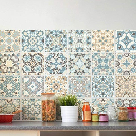 Instant Makeover Waterproof Mosaic Wall Sticker Tiles