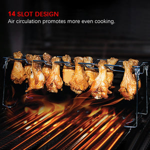 Chicken Leg Wing 14 Slot Grill Rack
