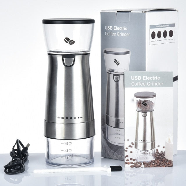 USB Rechargeable Coffee Bean Grinder
