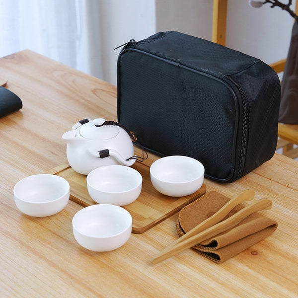 Traditional Ceramic Chinese Travel Tea Set