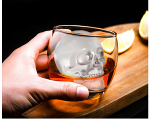 "3"" Crystal Skull Ice Cube, Cocktail, Jello, Chocolate Mold"