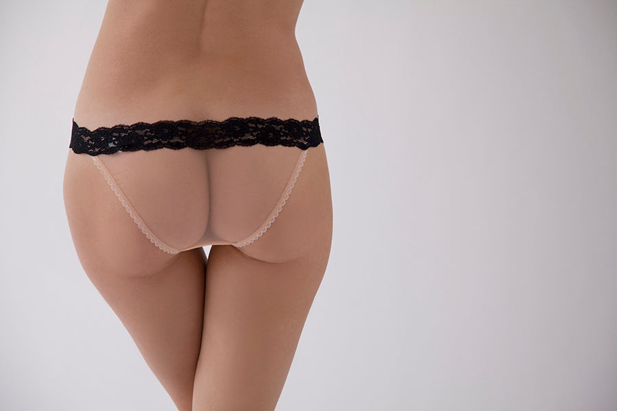 Knickerworld | Nude Mesh With Black Bow