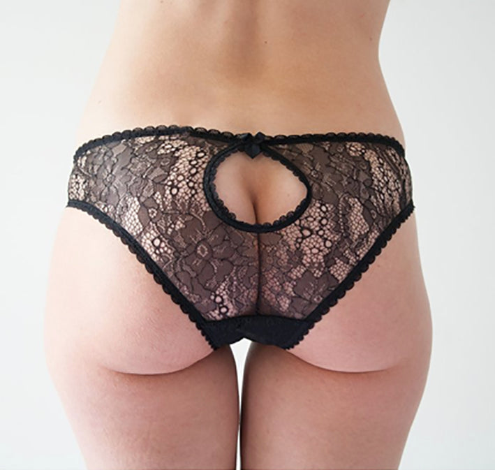 Knickerworld | Black Lace Peep