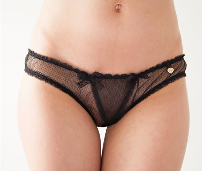 Knickerworld | Black Mesh Ouvert