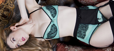 Mint Lace Suspender
