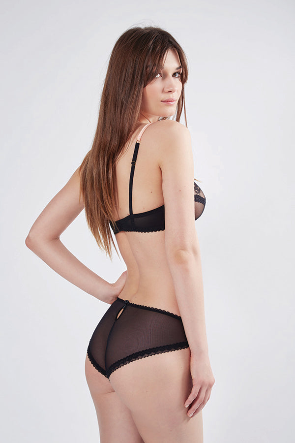Orchid Smooth Mesh Back Knickers | Mimi Holliday