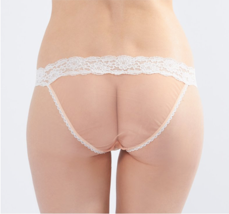Knickerworld | Nude Mesh With White Bow