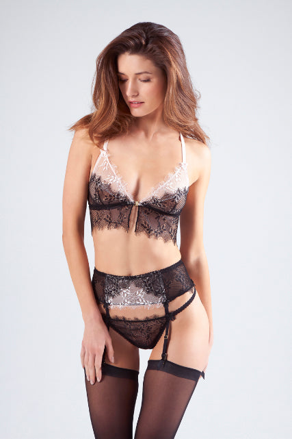 Wisteria Long-line Triangle Bra