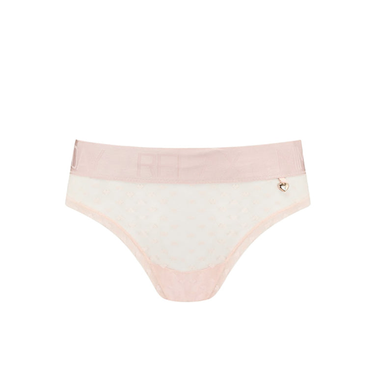 Knickerworld | Peach Heart Mesh