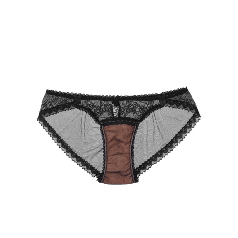 Orchid Mesh Back Knickers