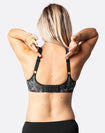 B to D cup racerback front closure nursing bra with adjustable straps