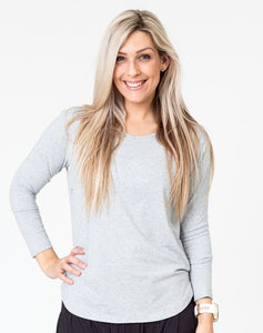 Maternity Top - Cruise Long Sleeve Gray