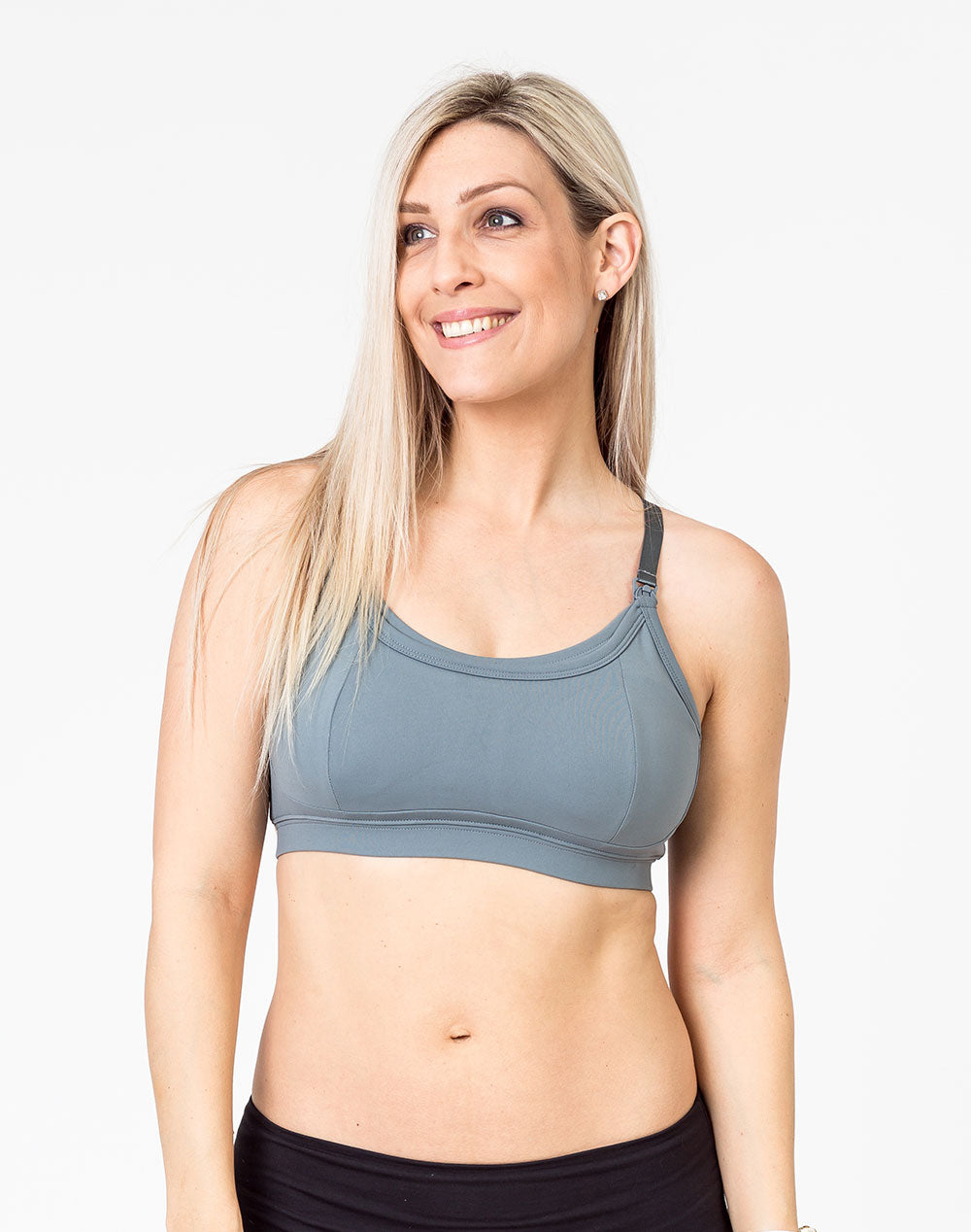 Racerback Nursing Bra - Everyday Bra Gray