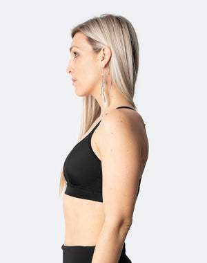 black racerback sports bras for high impact activities
