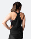 black breastfeeding tank top with crossover back