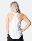white breastfeeding tank top with crossover back