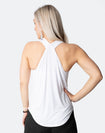 ** CLEARANCE ** Breastfeeding Top - Rise Up Tank White