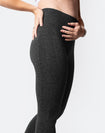 seamless high waist leggings in dark grey