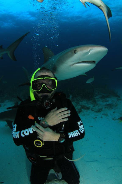 marcus antebi shark diving