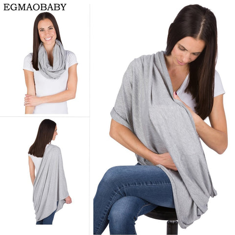 EGMAOBABY Nursing Scarf For Breastfeeding By Consider It Maid - 100% Cotton , Soft, Lightweight & Breathable Material - Saving World Store